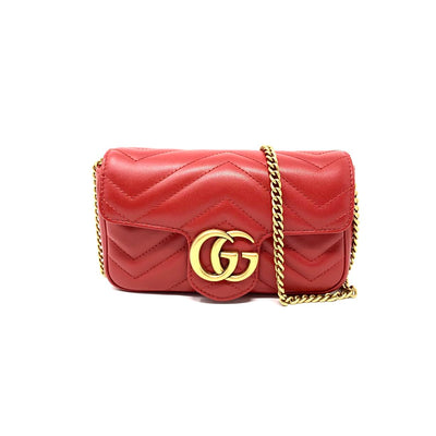 Gucci Super Mini GG Marmont Matelassé Bag w/ Tags