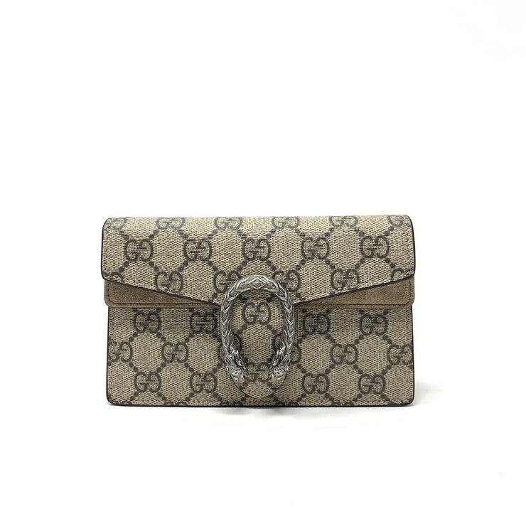 Gucci Super Mini GG Supreme Dionysus Bag Consignment Shop From Runway With Love