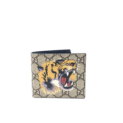 Gucci Tiger Print GG Supreme Wallet Consignment Shop From Runway With Love