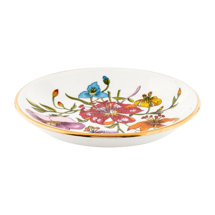 Gucci Vintage Floral Small Plate trinket dish coaster tableware Designer Consignment From Runway With Love