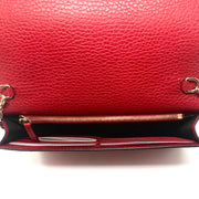 Gucci Betty Leather Wallet on Chain Red