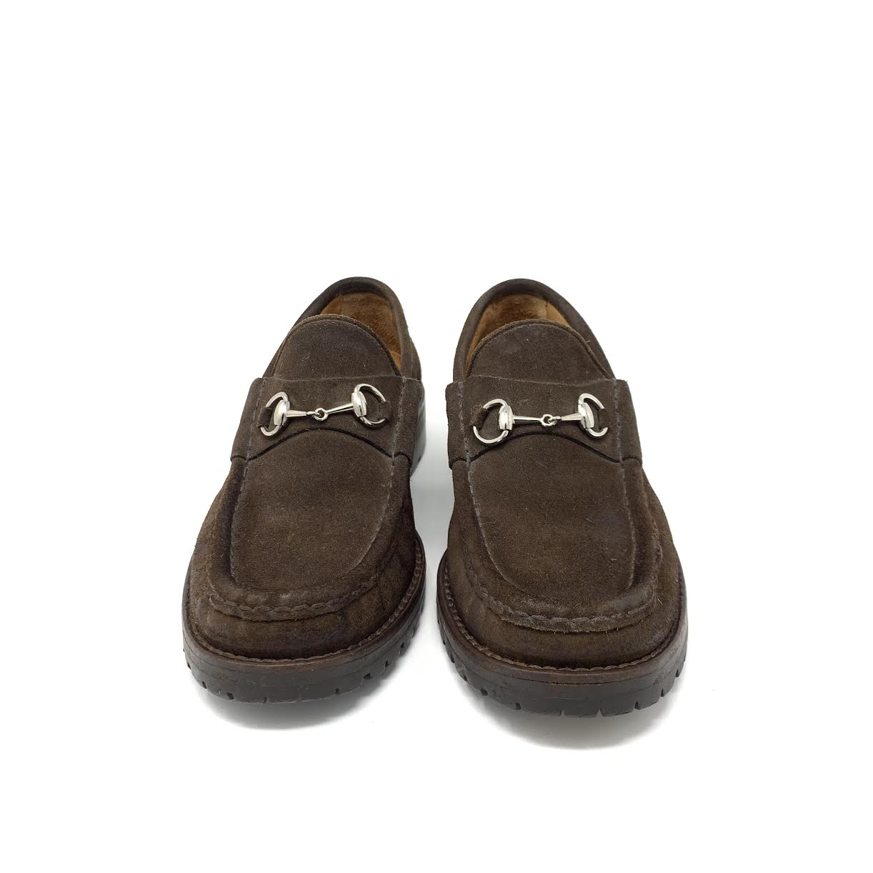 b93bed41d1c Share Share on Facebook Tweet Tweet on Twitter Pin it Pin on Pinterest. Gucci  Brown Suede Horsebit Loafers ...