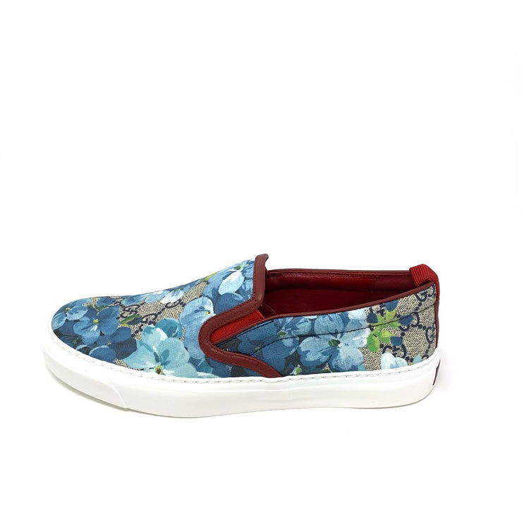 ebedb5661efe4d Gucci GG Blooms Slip On Sneakers Floral Blue Designer Consignment From  Runway With Love