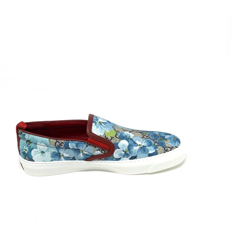 42568e61867 Gucci GG Blooms Slip On Sneakers Floral Blue Designer Consignment From  Runway With Love