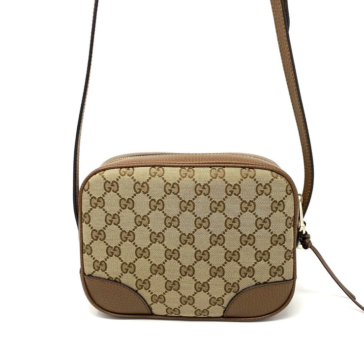 Gucci GG Canvas Bree Crossbody Bag Designer Consignment From Runway With Love
