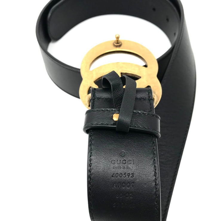 Gucci GG Marmont Belt black gold