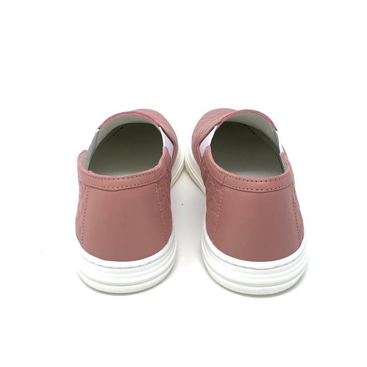Gucci Pink Leather Guccissima Sneakers Designer Consignment From runway With Love