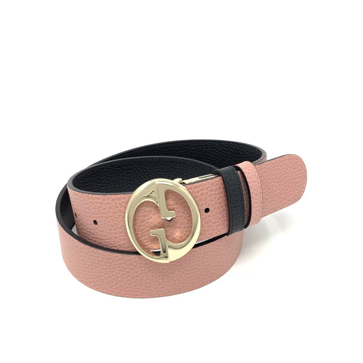 Gucci Reversible Belt Pink Black Designer Consignment From Runway With Love