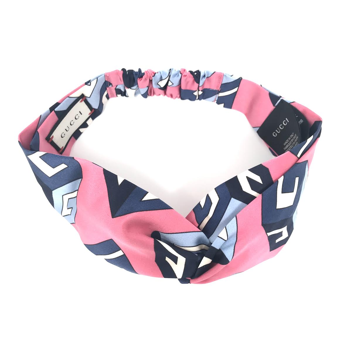 5ec32ec72a377 Gucci Silk Wallpaper Headband in Pink w/ Tags