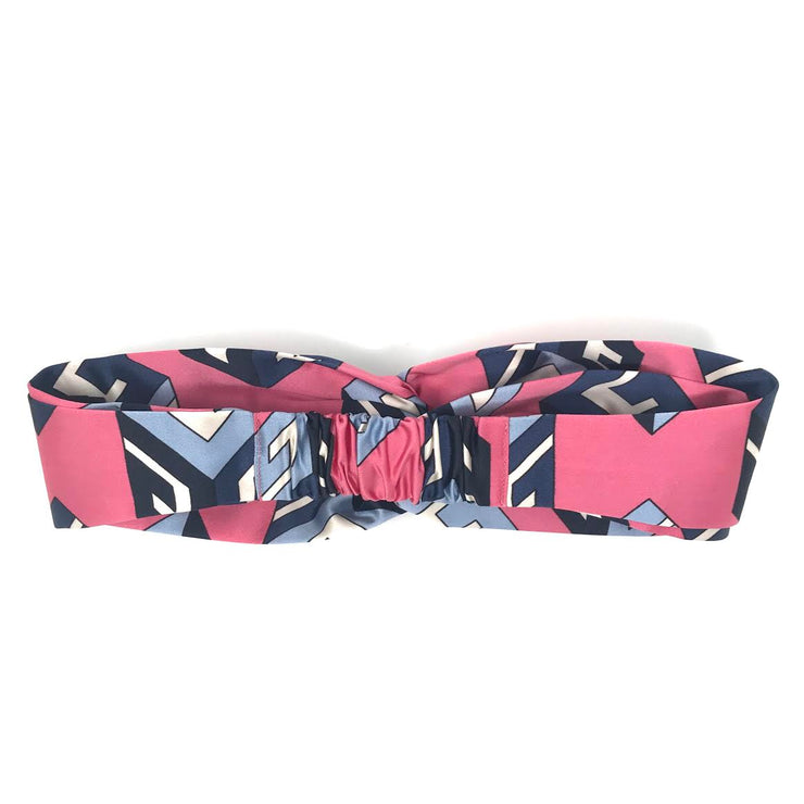 Gucci Silk Wallpaper Headband in Pink w/ Tags