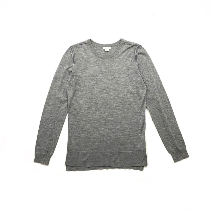 Helmut Lang Wool Crew Neck Sweater Gray Consignment Shop From Runway With Love