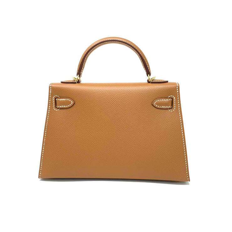 Hermès Mini Kelly Sellier II 20 Gold Epsom Consignment Shop From Runway With Love