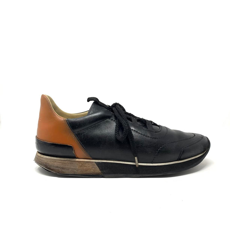 Hermes Miles Leather Sneakers Black Consignment Shop From Runway With Love