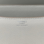 Gris Perle Swift leather Hermès Constance 24 grey with palladium-plated hardware designer consignment