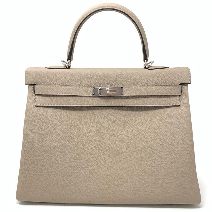 Hermès Kelly 35 Gris Tourterelle Birkin Constance Designer Consignment From Runway With Love
