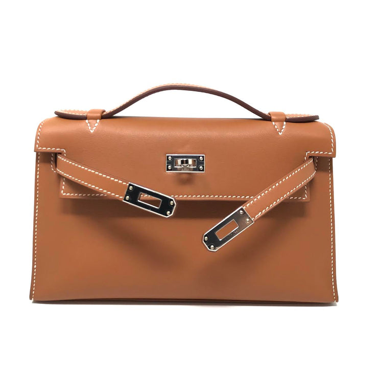 Hermès Kelly Pochette Gold swift leather
