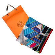 Hermes Sangles en Zigzag Cashmere Silk Scarf Designer Consignment From Runway With Love