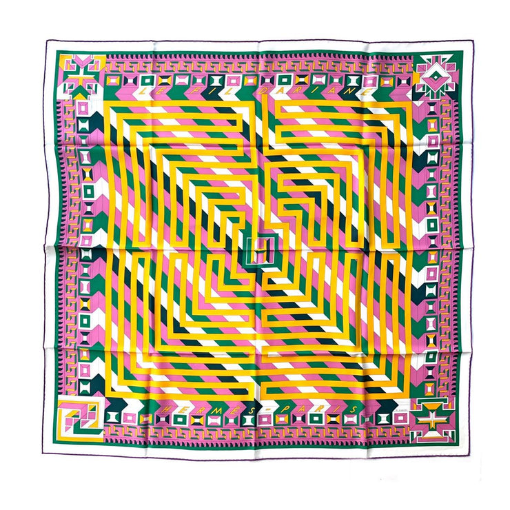 Hermes Silk Scarf Fil D'Ariane Designer Consignment From Runway With Love