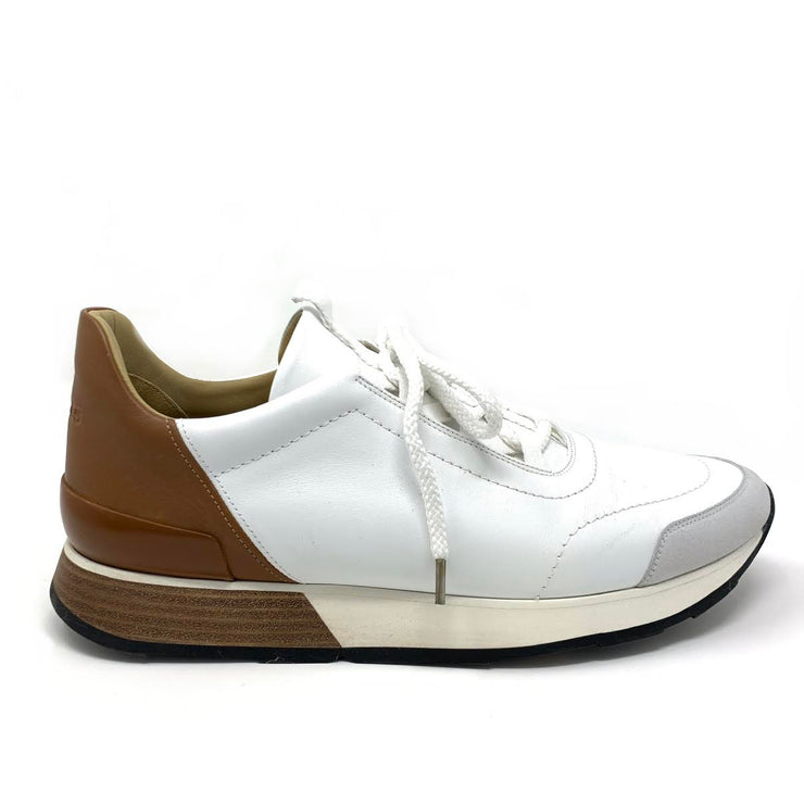 Hermès Miles Leather Sneakers White Designer Consignment From Runway With Love