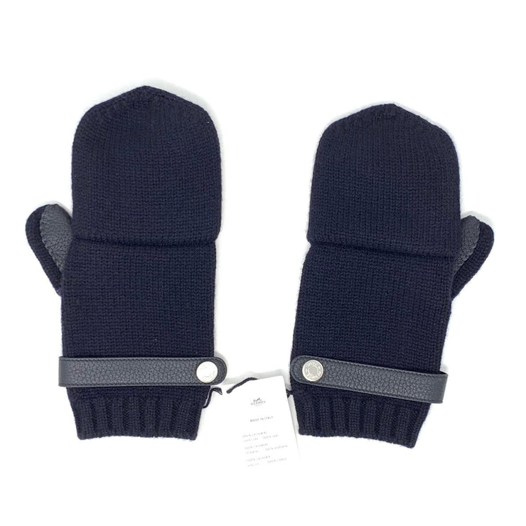 Hermes Lionel Men's Gloves Mittens Marine Navy Designer Consignment From Runway With Love