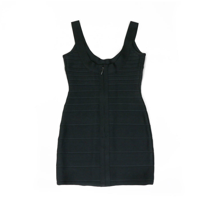 Herve Leger Black Bandage Mini Dress - Size XS
