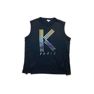 Kenzo Black Sleeveless Tank Top K Consignment shop from runway with love