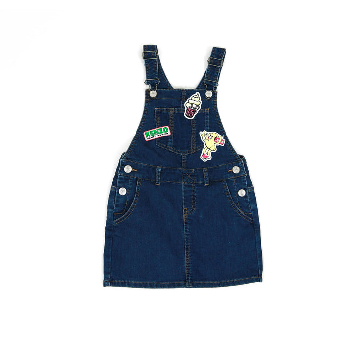 blue Kenzo Kids dungaree overalls dress Food Fiesta collection