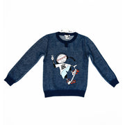 Little Marc Boy on Skateboard Print Sweatshirt