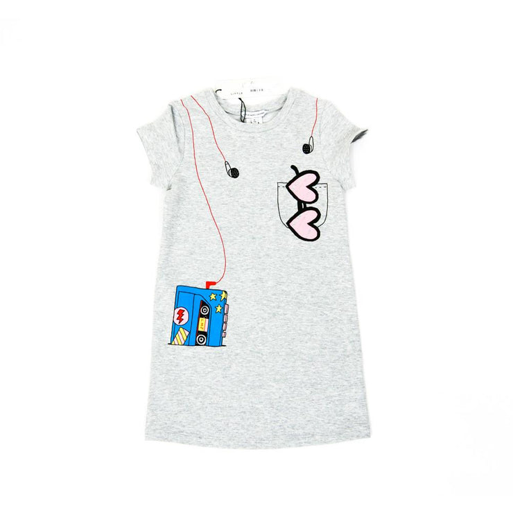 Little Marc Jacobs Walkman T-shirt Dress grey kids children