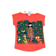 Little Marc Jacobs Jungle Print T-shirt orange kids clothing