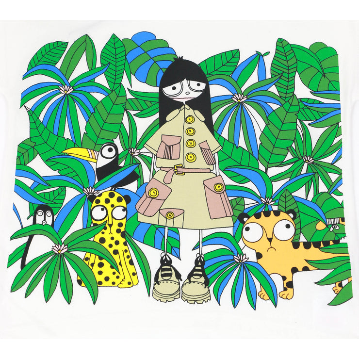 Little Marc Jacobs Jungle Print T-shirt white kids clothing