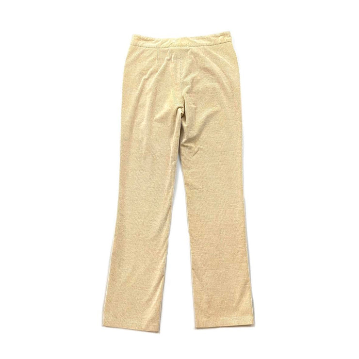 Loro Piana Corduroy Straight-Leg Pants Beige Consignment Shop From Runway With Love