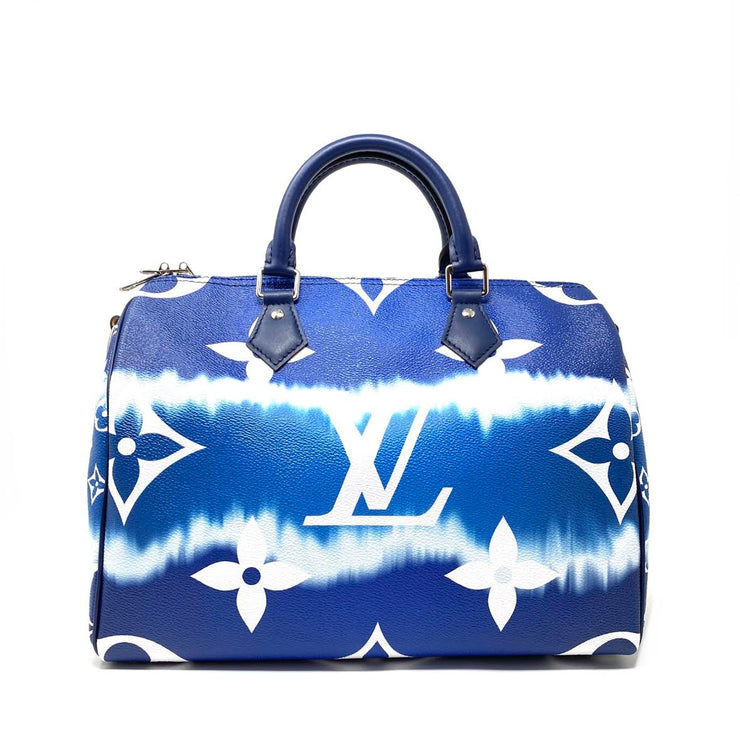 Louis Vuitton Escale Speedy Bandouliere 30 Blue Tie Dye Limited Edition Consignment Shop From Runway With Love