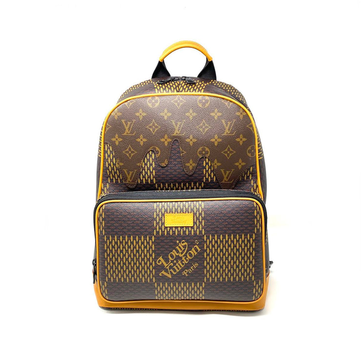 Louis Vuitton x Nigo Campus Backpack Giant Damier Ebene LV2 Duck Consignment Shop From Runway With Love