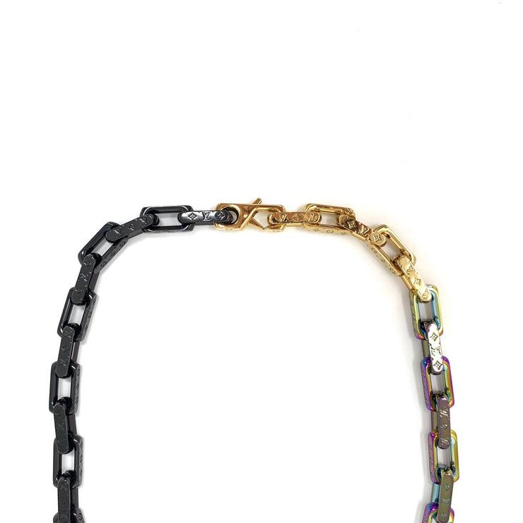 Louis Vuitton Monogram Colors Chain Necklace Virgil Abloh Consignment Shop From Runway With Love