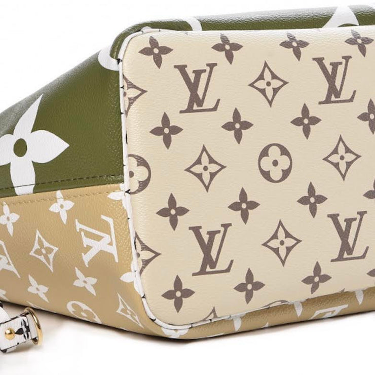 Louis Vuitton Giant Monogram Neverfull Green Designer Consignment From Runway With Love
