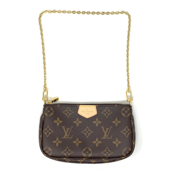 Louis Vuitton Multiple Pochette Mini Accessories Monogram Canvas Kaki Green Consignment Shop From Runway With Love