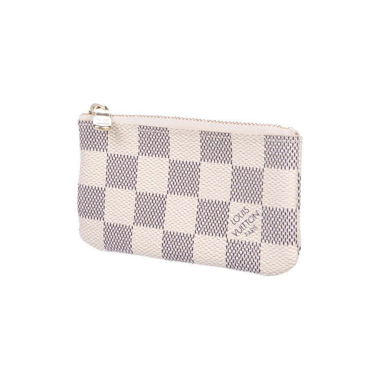 Louis Vuitton Damier Azur Key Pouch  Designer Consignment From Runway With Love