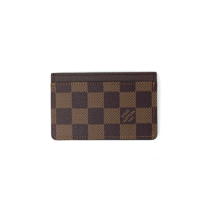 Louis Vuitton Damier Ebene Card Holder Designer Consignment From Runway With Love