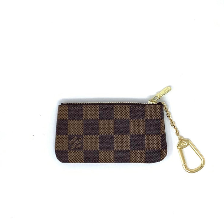 Louis Vuitton Damier Ebene Key Pouch Designer Consignment From Runway With Love