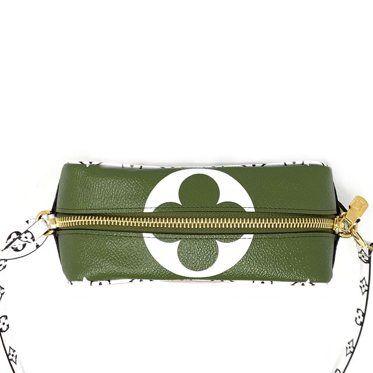Louis Vuitton Giant Monogram Beach Pouch in Khaki Green Designer Consignment From Runway With Love