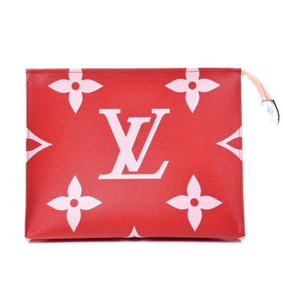 Louis Vuitton Giant Monogram Toiletry Pouch 26 Rouge w/ Tags