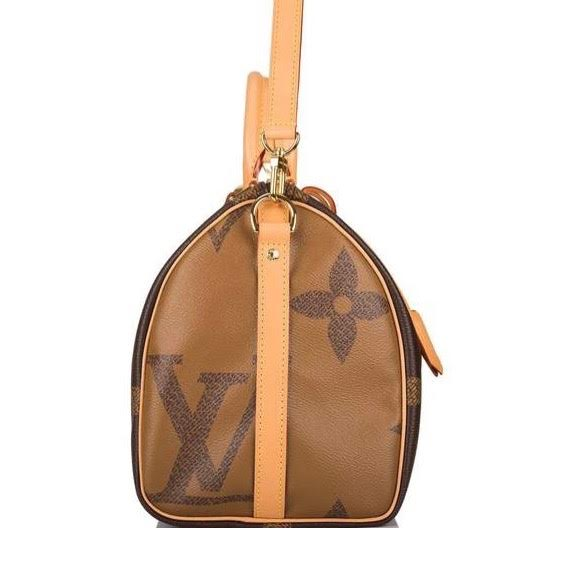 Louis Vuitton Giant Reverse Monogram Speedy 30 Bandouliere Designer Consignment From Runway With Love