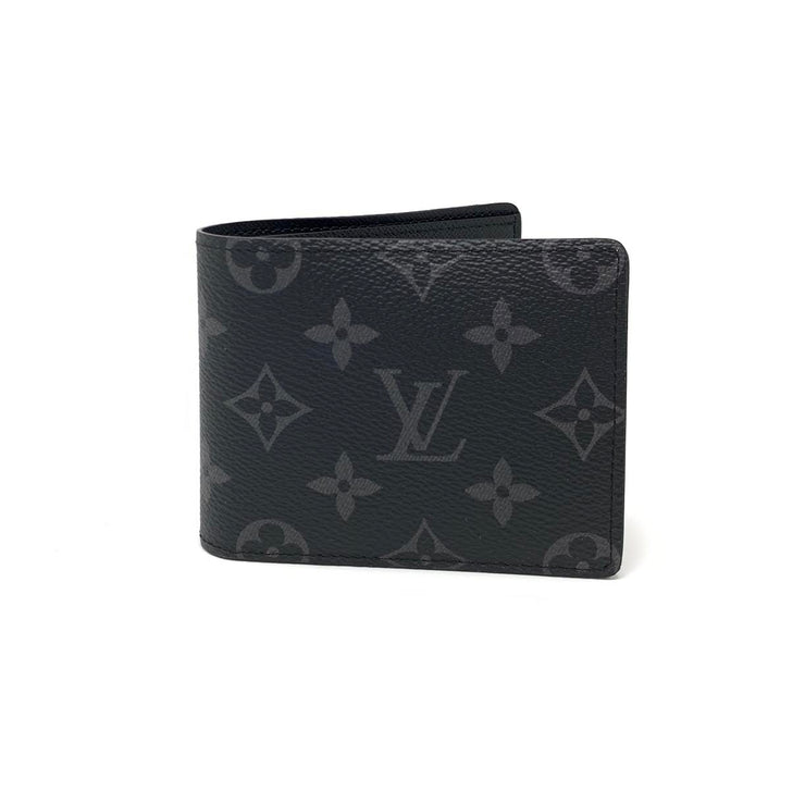 Louis Vuitton Slender Wallet Eclipse Monogram Designer Consignment From Runway With Love
