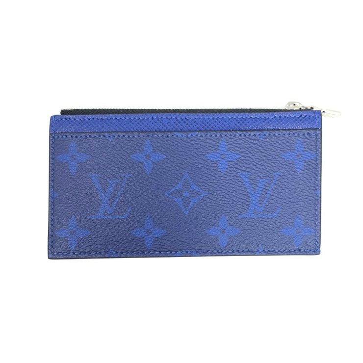 Louis Vuitton Taigarama Coin Holder Blue Virgil Abloh Designer Consignment From Runway With Love