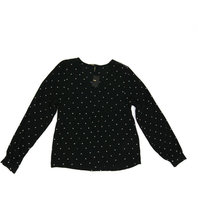Maje Black Long Sleeve Top white stars