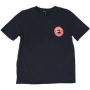 Maje T-shirt blue red polka dots caviar