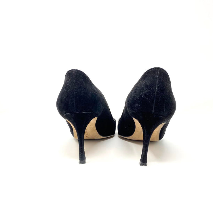 Manolo Blahnik BB Suede Pumps - Size 40