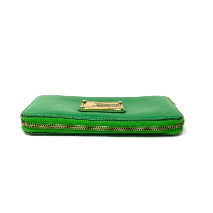 Marc by Marc Jacobs Leather Continental Wallet Green Consignment Shop From Runway With Love