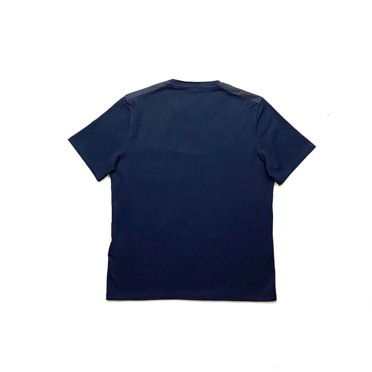 men's navy blue Prada T-Shirt logo pocket consignment shop from runway with love